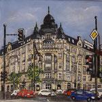 175 - Commerzbank, Acryl auf LW/KR, 15 x 15 cm