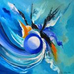 pure Lebensfreude -WVZ 2016-17- Acryl auf LW/KR, 50 x 50 cm