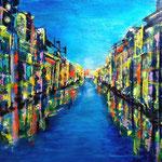 Illuminato - WVZ 2017-30, Acryl auf starkem Papier gespachtelt, 40 x 30 cm