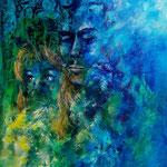 sentimenti, 2014, Acryl auf Papier, 40 x 30 cm