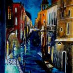 Venice, Acryl auf Papier, 40 x 30 cm - WVZ 2018-18