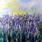 der Duft von Lavendel - WVZ 2019 - 19, Acryl auf starkem Papier, 40 x 30 cm