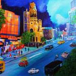 meine Stadt -2- Budapester Straße, Acryl auf LW/KR, 100 x 80 x 4 cm