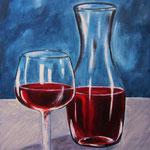 un mezzo rosso - Acryl auf LW/KR, 24 x 30 cm