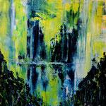 Refugium -2- WVZ 2016-21, Acryl gespachtelt aufLW/KR,40 x 40 cm