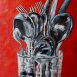 posate -4- Acryl auf LW/KR, 60 x 50 cm