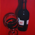 vino rosso -3- Acryl auf LW/KR, 24 x 30 cm - verkauft -