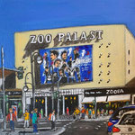 186 - Zoo Palast, Acryl auf LW/KR 15 x 15 cm