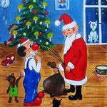 16. Weihnachten, Acryl auf LW/KR, 24 x 30 cm