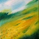 Sonnenblumenfeld - Acryl auf LW/KR, 40 x 30 cm