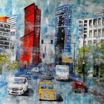City-dust - Acryl auf LW/KR; 80 x 60 cm - WVZ 2018-10 - verkauft