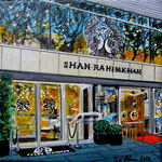 137 - Shan Rahimkhan - Acryl auf LW/KR, 15 x 15 cm