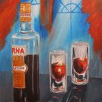 Averna auf Eis - Acryl auf LW/KR, 24 x 30 cm