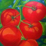 von der Sonne verwöhnr - Acryl auf LW/KR, 60 x 60 cm