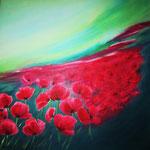 Sommerwind - Acryl auf LW/KR, 60 x 60 cm