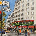 194 - Hotel Bristol, Acryl auf LW/KR, 15 x 15 cm