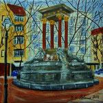 21. St. Georg Brunnen auf dem Hindemith Platz - vekauft -
