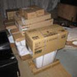 こちらでも見てみましょう。組み合わせ便器というだけあって、便器・タンク・便座が別々の箱に入っています。