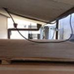コンパネの上の両サイドに茶色いガンバリウム鋼板が付きました