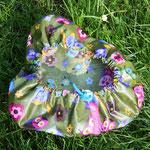 AUSVERKAUFT!!! Eulen mit Blumen, olivgrün; Material: BW beschichtet