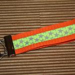"""orange mit Webband """"Neon-Sterne"""", 22 cm"""