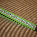 """grasgrün mit Webband """"Eulen"""", 48 cm"""