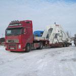 Übergabe Biegemaschine in  Russland bei -30° Grad (1)