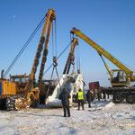Übergabe Biegemaschine in  Russland bei -30° Grad (12)