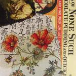 """Collage """"Der asiatische Bienenzüchter liebt Schokoladenpudding"""", 10 x 10 cm, Papiercollage auf Pappwabenplatte, Heike Roesner/2020 - nicht verfügbar"""