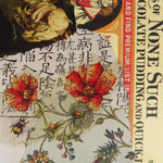 """Collage """"Der asiatische Bienenzüchter liebt Schokoladenpudding"""", 10 x 10 cm, Papiercollage auf Pappwabenplatte, Heike Roesner/2020 - verkauft"""