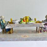Überfluss, Papiermaché, 12,5 cm hoch, 33 cm lang, 16 cm tief (Heike Roesner/2017)