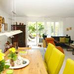 Wohn-/Essbereich: Blick aus der Küche