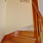 Aufgangstreppe ins Obergeschoss