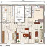 Die Wohnung weist einen attraktiven Grundriss auf.