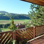 Herrlicher Blick vom Balkon Richtung Südwesten