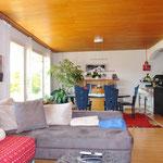 Grosser Wohn-/Essbereich der unteren Wohnung, mit perfekter Südwest-Ausrichtung