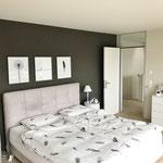 Stilvoll durch und durch: Elternzimmer im Obergeschoss