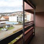 17 m2 grosser Balkon auf der Westseite
