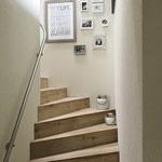 Aufgangs-Treppe ins Obergeschoss