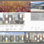 Subtil und mit viel Raffinesse kreiert: Die farbliche Gestaltung der Fassaden. Flächen-auflösend und harmonisch.
