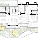 Grundriss Erdgeschoss (4.5-Zimmer-Gartenwohnung)