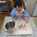 試験管による色水作り