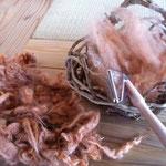 羊毛はこんな色になりました