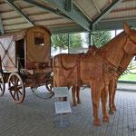 römischer Reisewagen mit Lederbespannung