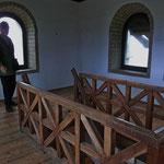 im Turm mit seinen sehr steilen Treppen