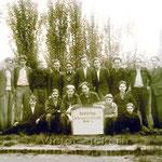 Berglehrlinge der Bergmännischen Berufsschule Victor 3/4 um 1948