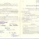 Ausbildungsvertrag Victor III/IV   1952