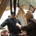 5. Wikinger- und Mittelalterspektakel 2011 in Berlin - Hans Nuss gibt Weisheiten zum Besten