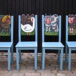 Gruppe Stühle