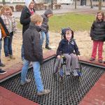 Trampolin für Rollstuhlfahrer